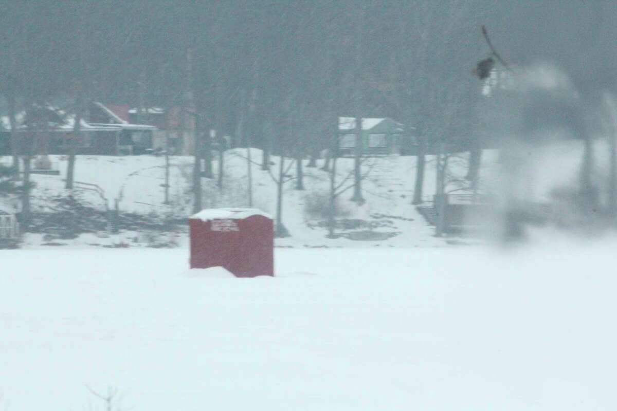 Ice fishermen continue to look for whatever areas they can find safe ice. (Pioneer file photo)