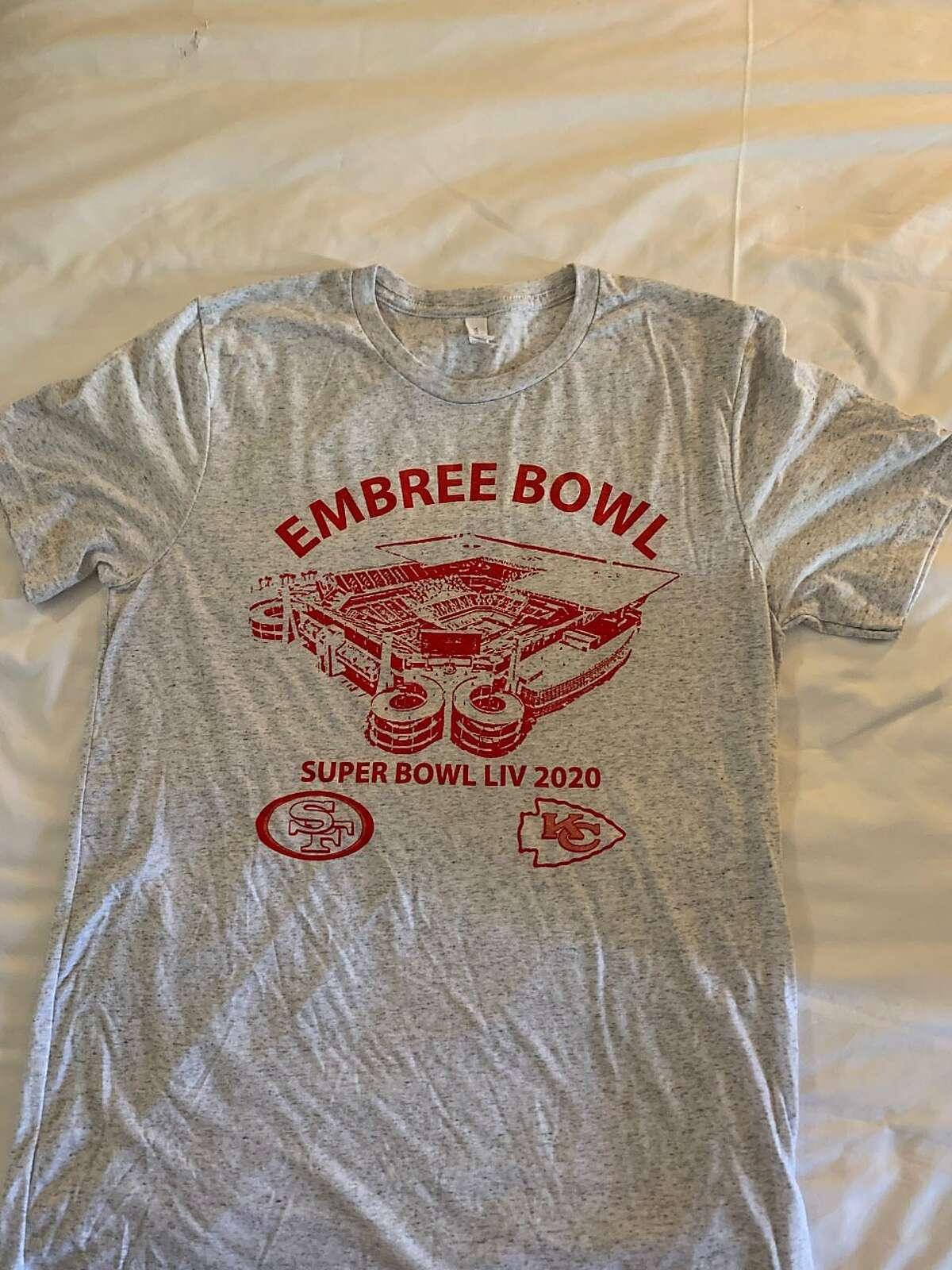 The T-shirt made for Super Bowl LIV.