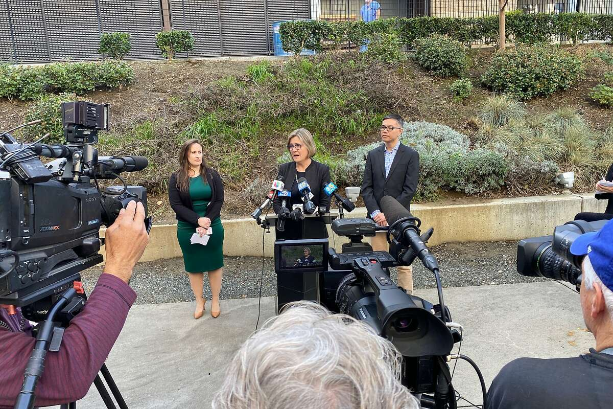 Dr. Sara Cody, director of the Santa Clara County Public Health Department, hosts a press conference regarding a confirmed infection of coronavirus in Santa Clara County, on Friday, January 31, 2020, in San Jose, Calif.