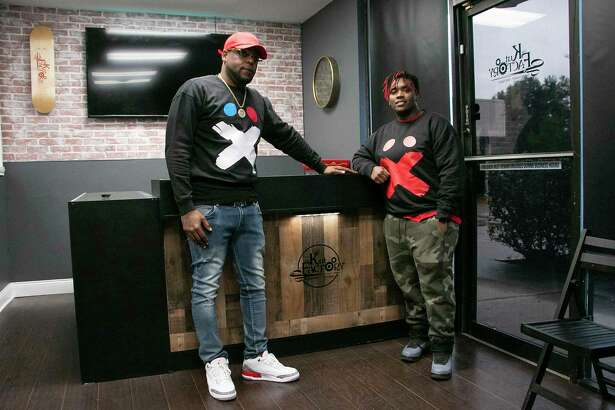 """The co-owners of The Kut Factory Barbershop Boutique, Nico Williams """"Nico Tha Barber"""" and Elijah Davis, """"Hood Tha Barber,"""" said this will be one of many Kut Factory's around greater Houston and hope to move to other Texas metros."""