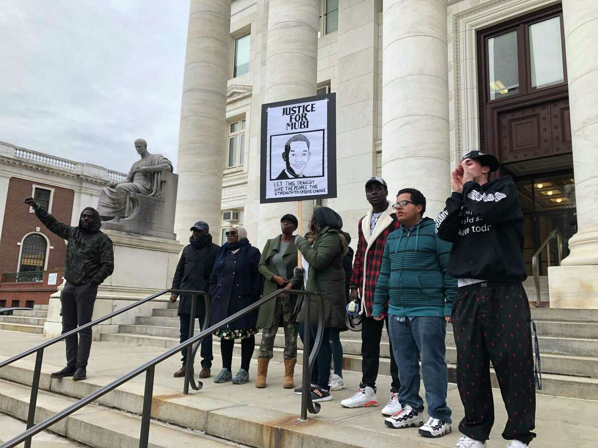 Family and friends of Mubarak Soulemane sought justice in his name Friday with a protest in New Haven.