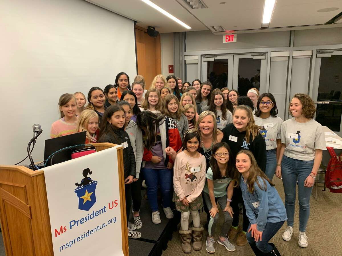 More than 30 girls attended a Ms. President US event Jan. 10 at the Ridgefield Library.