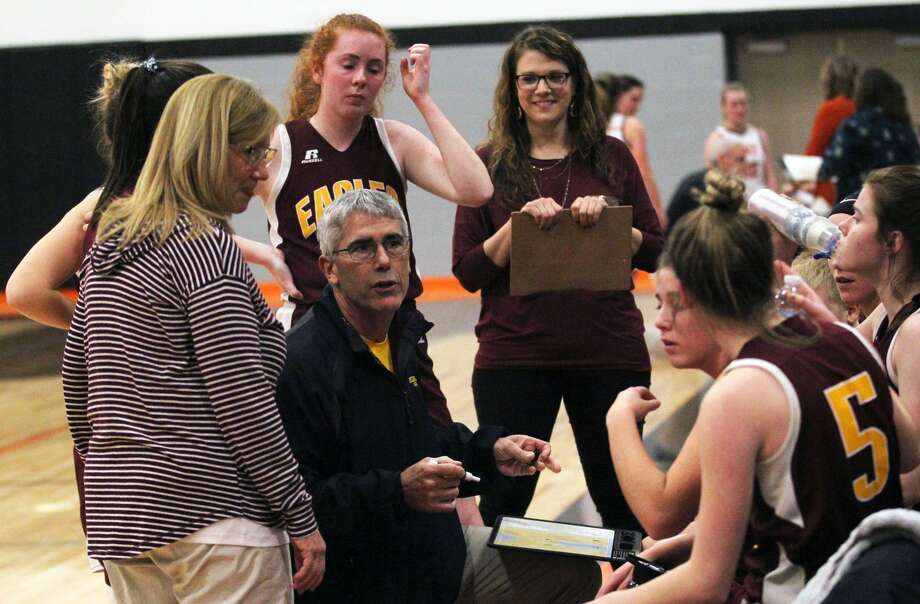 The Deckerville girls basketball team did the improbable on Thursday night as the Eagles put an end to Kingston's 62-game North Central Thumb League winning streak, winning the contest by a 47-26 margin. Photo: Tribune File Photo