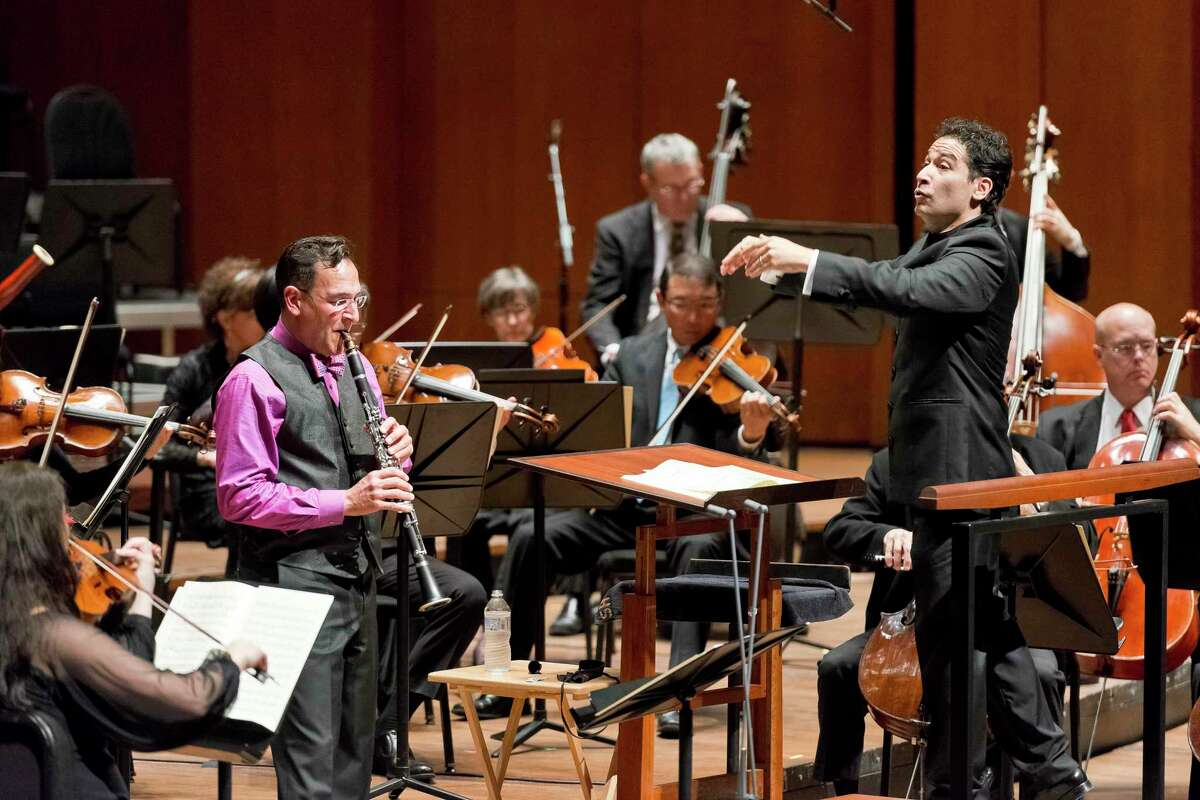 Mark Nuccio, principal clarinetist with the Houston Symphony, performs with the symphony and conductor Andres Orozco-Estrada.