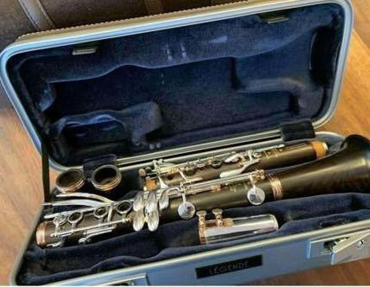A clarinet owned by Houston Symphony principal clarinetist Mark Nuccio