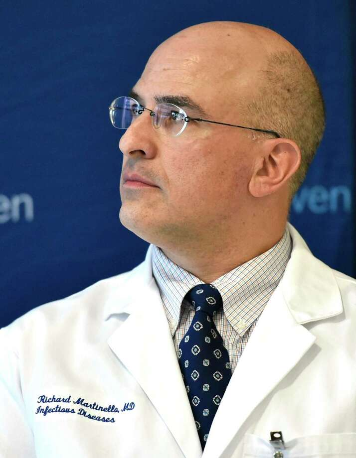 Dr. Richard Martinello medical director for infection prevention for the Yale New Haven Health System. Photo: Peter Hvizdak / Hearst Connecticut Media / New Haven Register