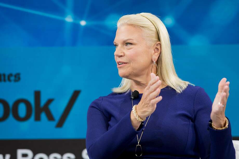 Ginni Rometty struggled to achieve growth at IBM as it made the transition to new fields. Photo: Samuel Corum / New York Times 2019