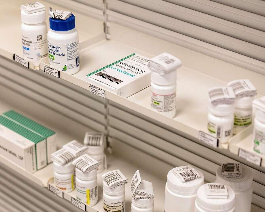 File photo of prescription medications at a pharmacy in Leland, N.C., on Jan. 6, 2020.(Jeremy M. Lange/The New York Times) Photo: Jeremy M. Lange, NYT