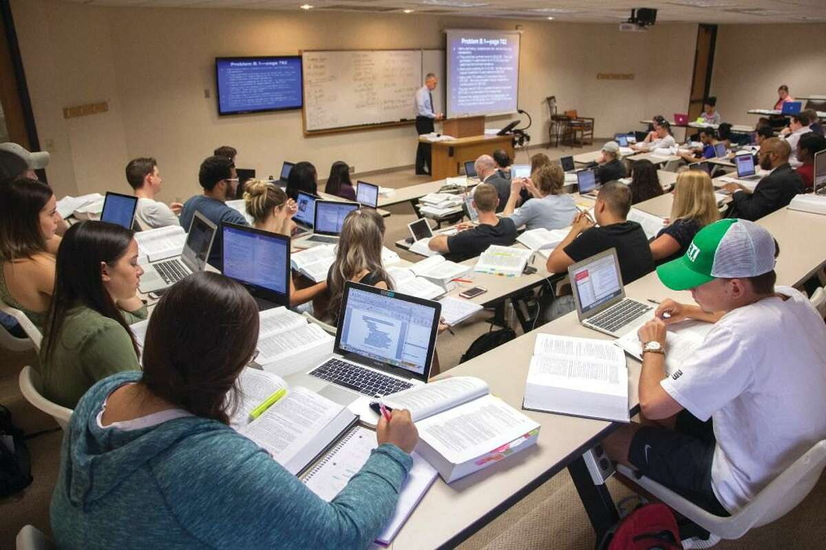 Houston College of Law classroom scenes (w/ faculty & Dean Bruce McGovern) in Houston, Tx.
