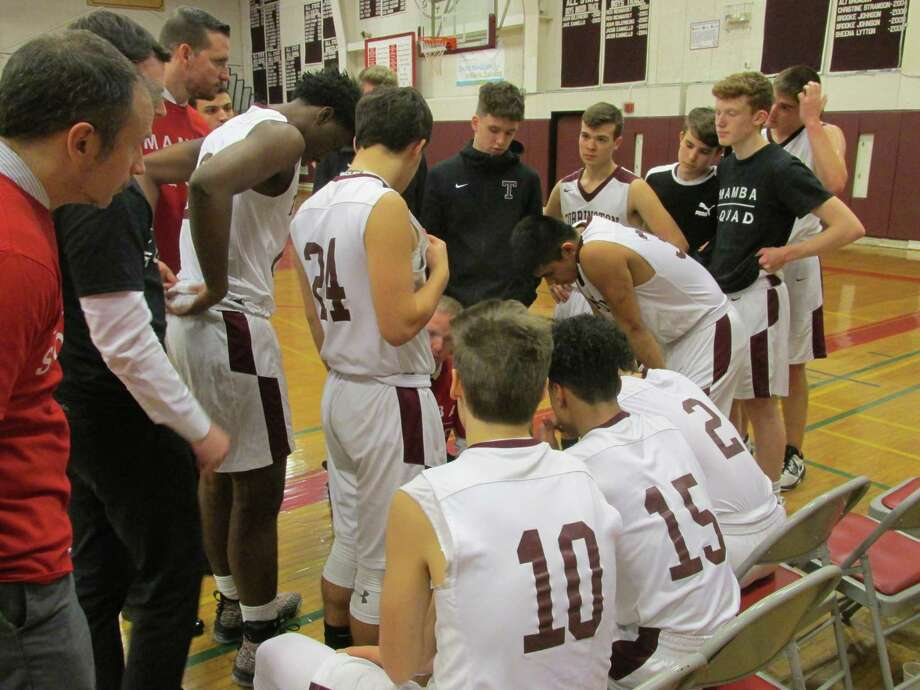 After a big Naugatuck win at Holy Cross Tuesday, Greyhound coach Mike Wilson was pleased with his team's energy-to-spare in Naugatuck's win at Torrington High School Friday night, Jan. 31, 2020. Photo: Peter Wallace / For Hearst Connecticut Media