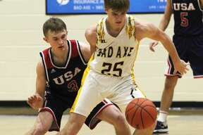 The USA boys basketball team engineered a late-game comeback to capture a 42-41 victory in Bad Axe on Friday, Jan. 31, 2020.