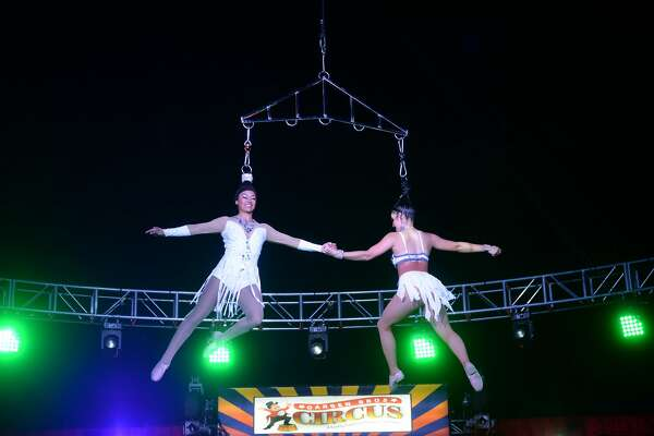 Circus goers enjoy the opening activities during the opening performance of the Garden Bros. Circus at Ford Park Friday. The circus will hold three performances Saturday at 1:30, 4:30 and 7:30 p.m. Photo taken Friday, Jan. 31, 2020 Kim Brent/The Enterprise