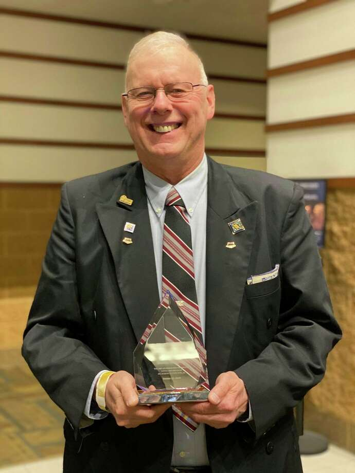 Dave Stickles is pictured with his award. (Photo provided)