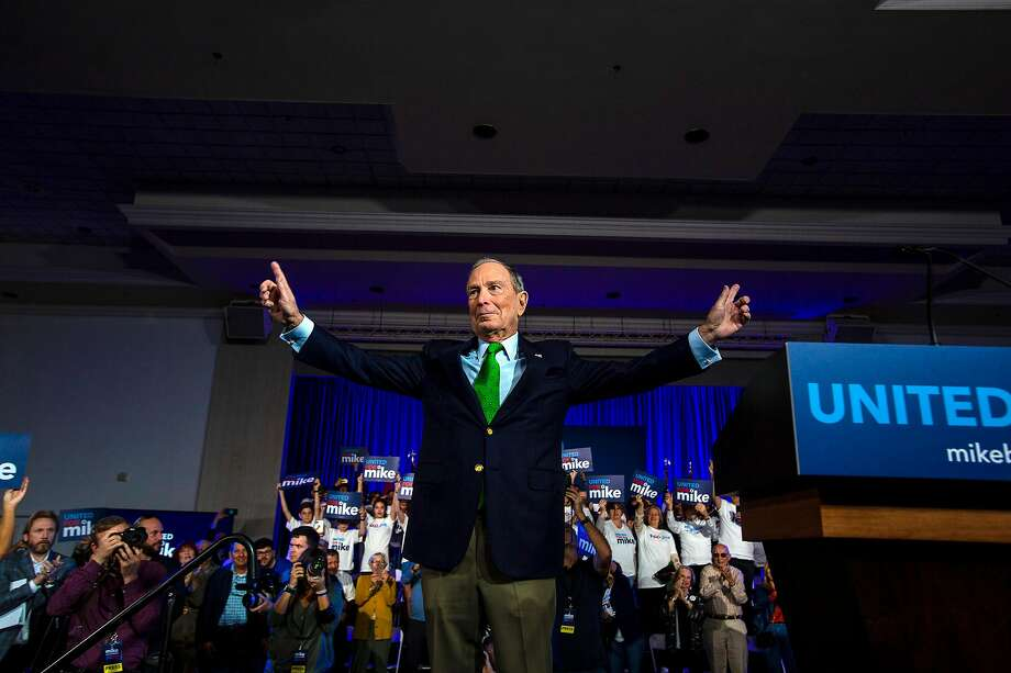 Democratic presidential candidate Mike Bloomberg attends a campaign event in Miami on Jan. 26. His tax plan would impose a new 5% surtax on incomes above $5 million. Photo: Saul Martinez / New York Times