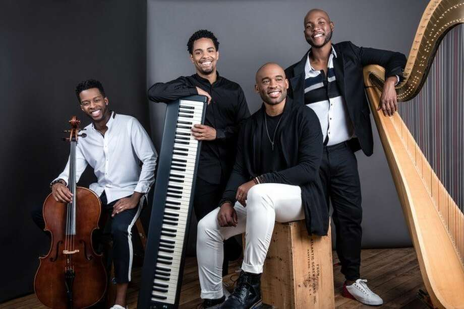 """""""Sons of Serendip,"""" a nationally acclaimed and award-winning quartet comprised of Kendall Ramseur (pictured left to right), Cordaro Rodriguez, Micah Christian, and Mason Morton, will perform in Plainview on Feb. 9 as part of Plainview Community Concerts' 75th Jubilee Season. Photo: Courtesy Photo/Plainview Community Concerts"""