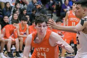 Carlos Guzman scored 14 points in United's 60-57 win at LBJ on Friday.