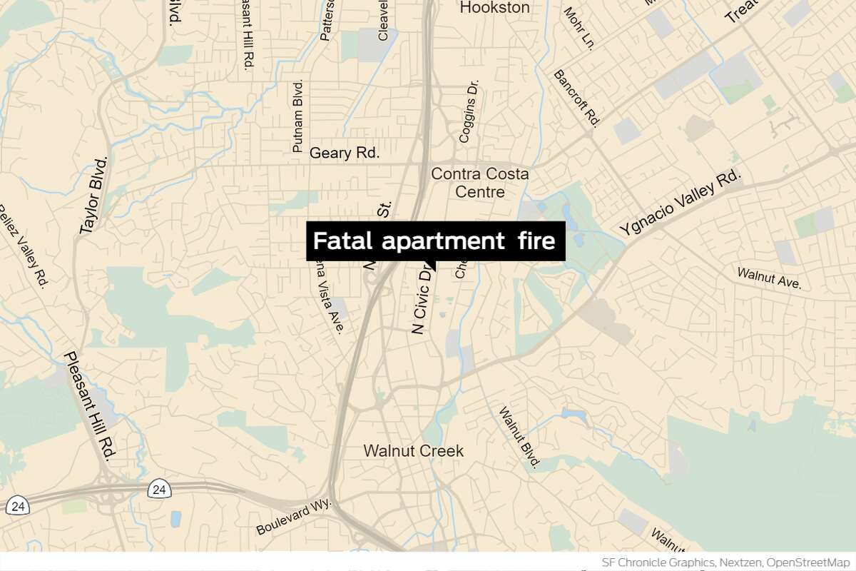 A man died in a fire that swept through a five-story Walnut Creek apartment building Saturday morning.