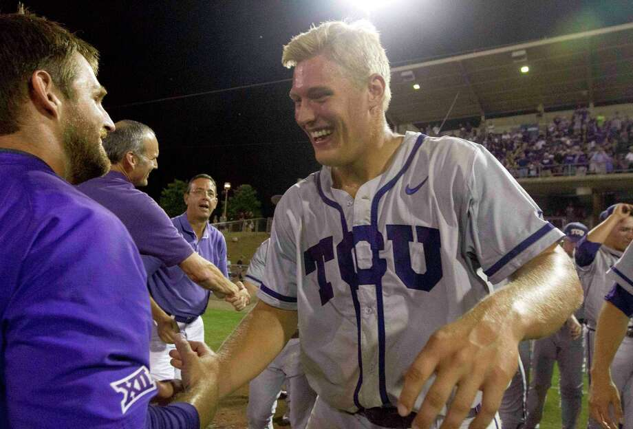 Oak Ridge alum Luken Baker, seen here during his playing days with TCU, was invited to the St. Louis Cardinals' spring training on Friday. / Internal