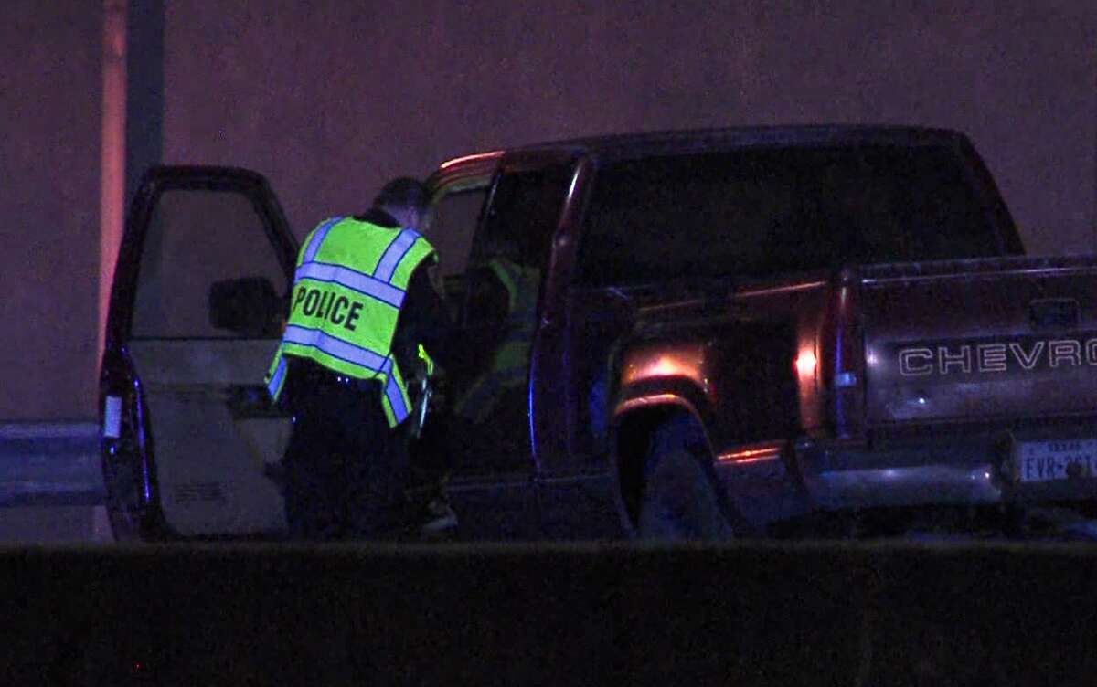 San Antonio police say a man was fatally struck by a truck as he walked along U.S. 281 Saturday morning Feb. 1, 2020. The driver of the truck fled and is still at large, police say.