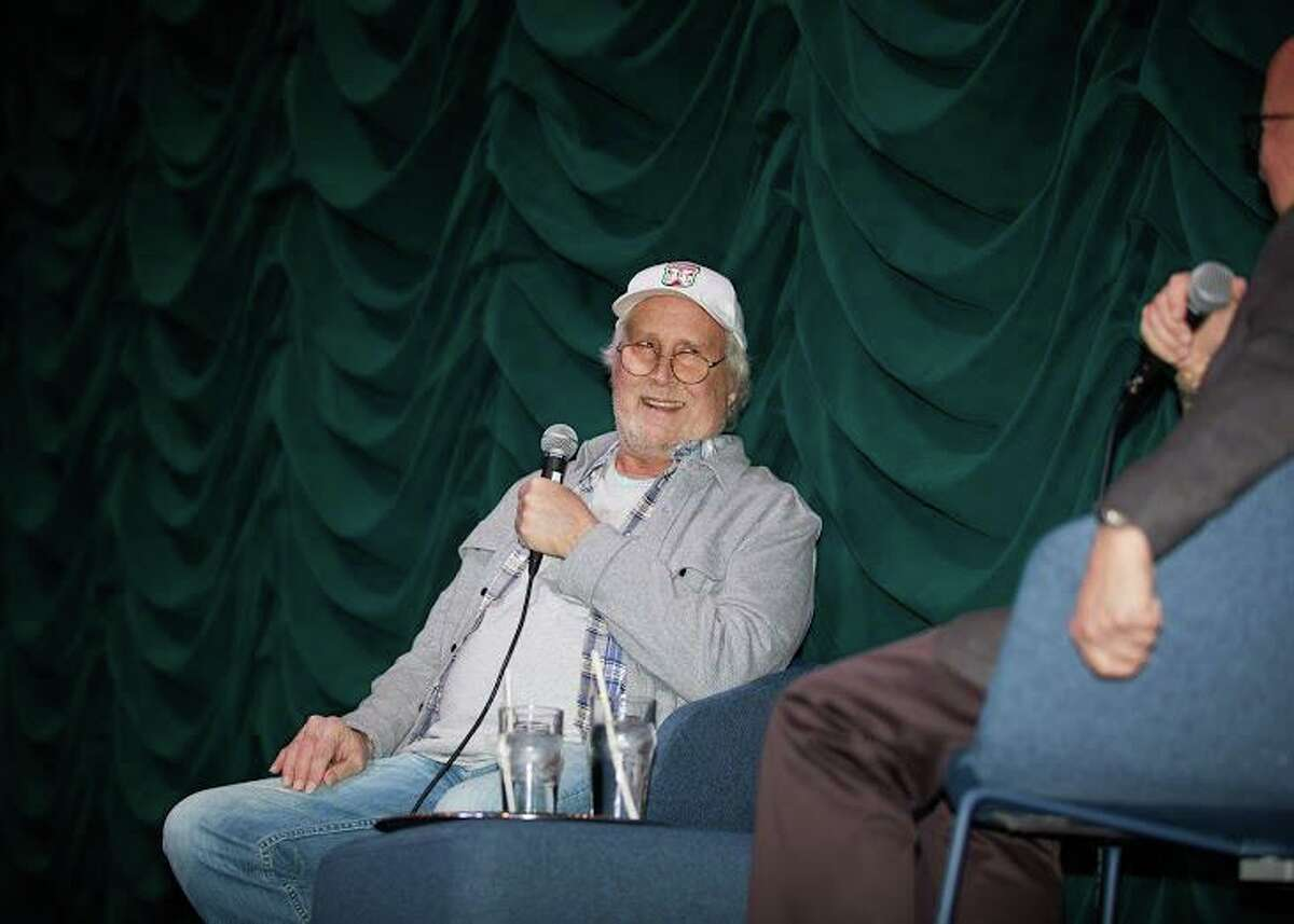 Actor Chevy Chase speaks to the crowd at The Bedford Playhouse last weekend at a screening of the classic comedy