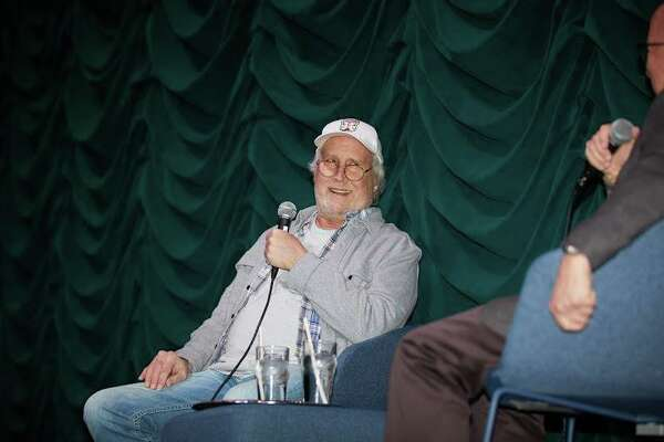 "Actor Chevy Chase speaks to the crowd at The Bedford Playhouse last weekend at a screening of the classic comedy ""Caddyshack"" and Q&A moderated by fellow Bedford, N.Y., resident and musician Paul Shaffer."