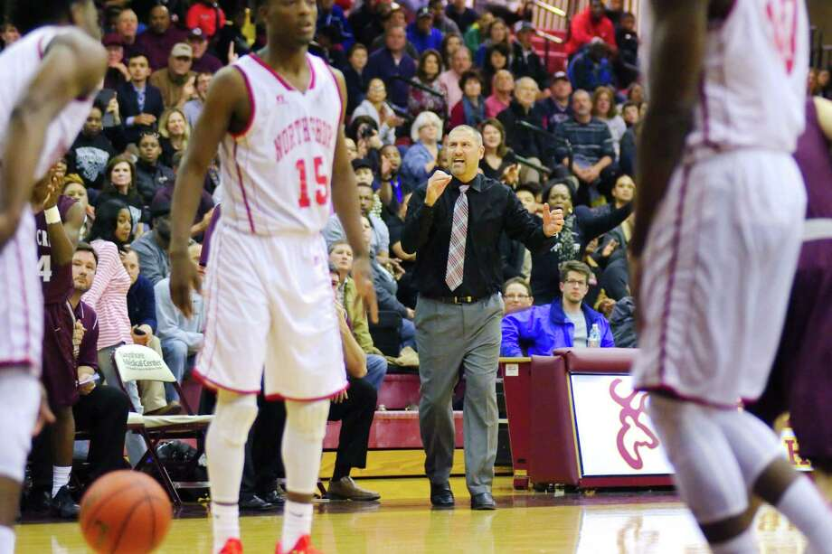 Clear Creek head boys' basketball coach Wes Bryan has his team in a playoff position, but keeping the Wildcats there won't be any easy task. Photo: KIRK SIDES / Kirk Sides