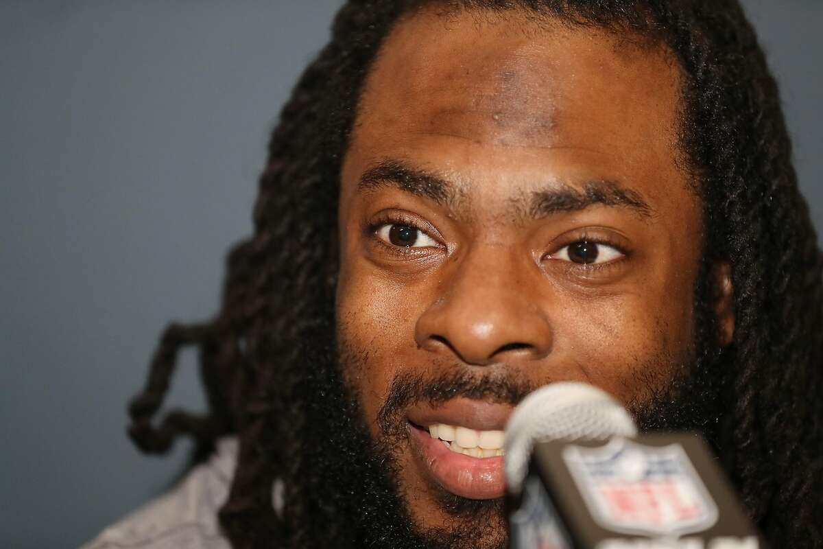 MIAMI, FLORIDA - JANUARY 28: Richard Sherman #25 of the San Francisco 49ers speaks to the media during the San Francisco 49ers media availability prior to Super Bowl LIV at the James L. Knight Center on January 28, 2020 in Miami, Florida. (Photo by Michael Reaves/Getty Images)