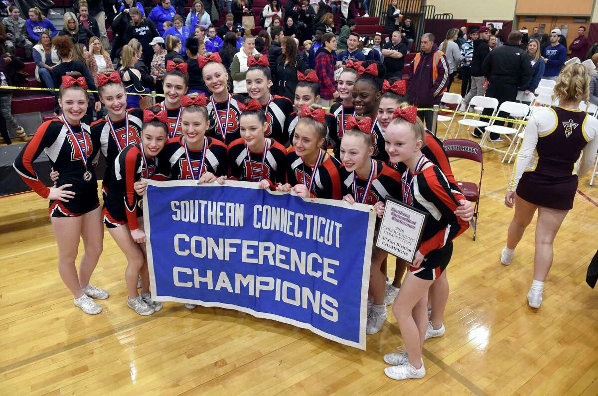 Branford won the 2020 SCC Cheerleading Competition in the All-Girl Division at North Haven High on Saturday.