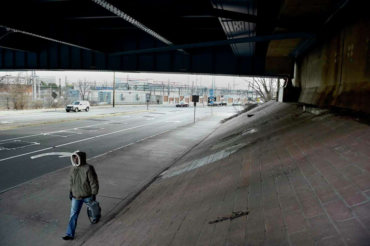 The Union Avenue underpass below Route 34 will be the site of a Site Projects New Haven lighting project during the Downtown Crossing Phase 2 project.