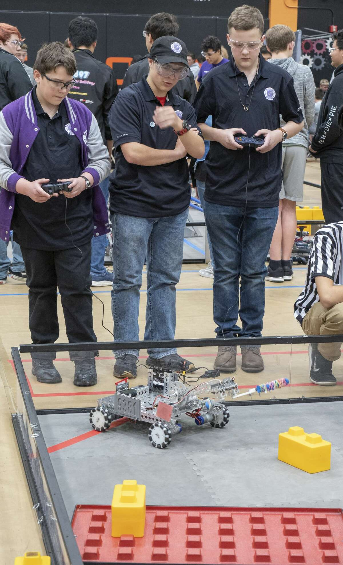 Midland Classical Academy's team Hot Box Purple, 9381, compete 02/01/2020 in the FIRST Tech Challenge South League championships at UTPB. Tim Fischer/Reporter-Telegram