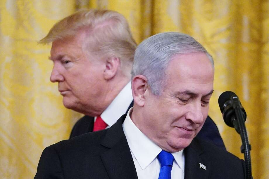 President Trump and Israeli Prime Minister Benjamin Netanyahu meet Tuesday in Washington. Photo: Mandel Ngan / AFP / Getty Images