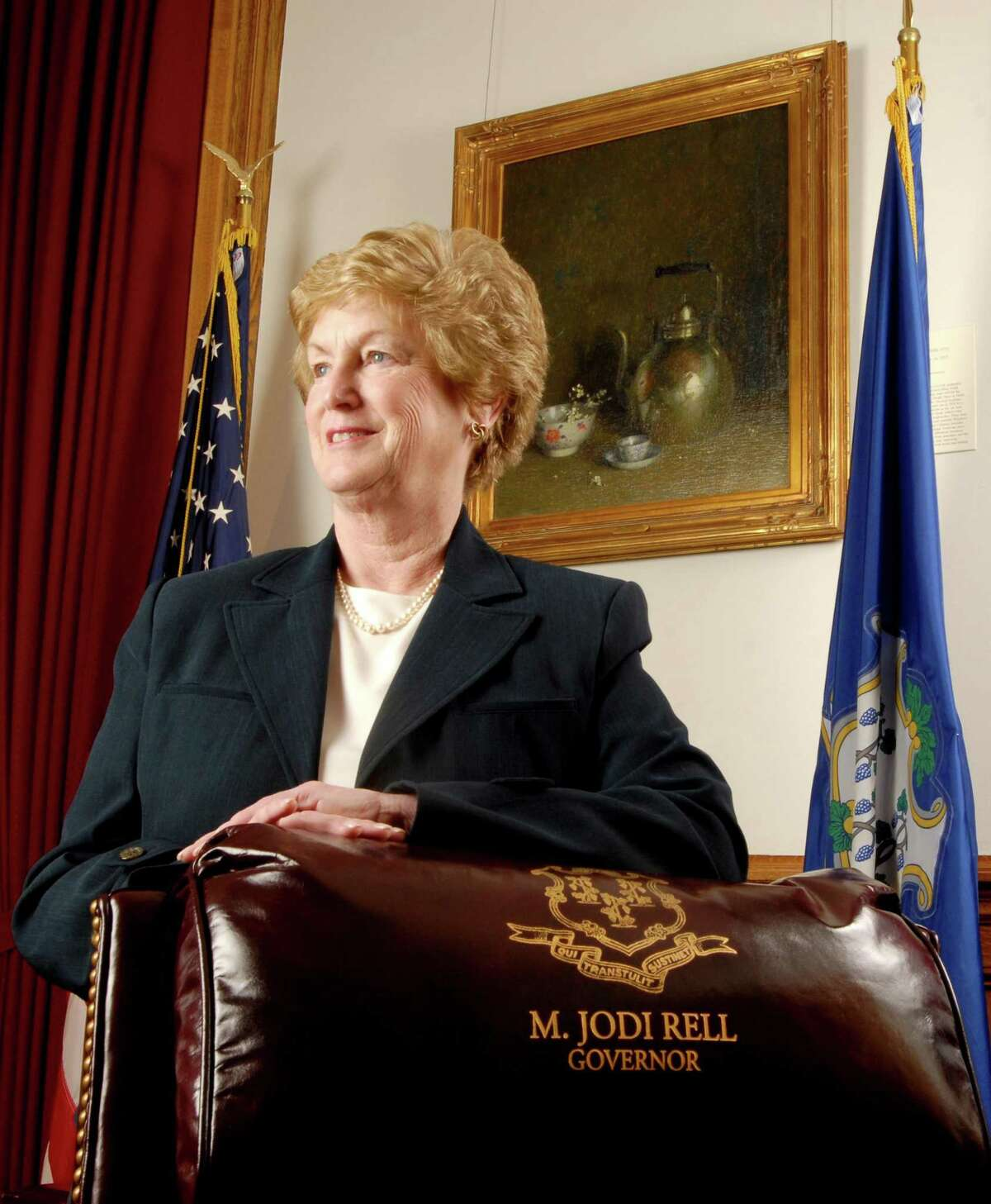 Connecticut Gov. M. Jodi Rell in her office at the State Capitol in 2007.