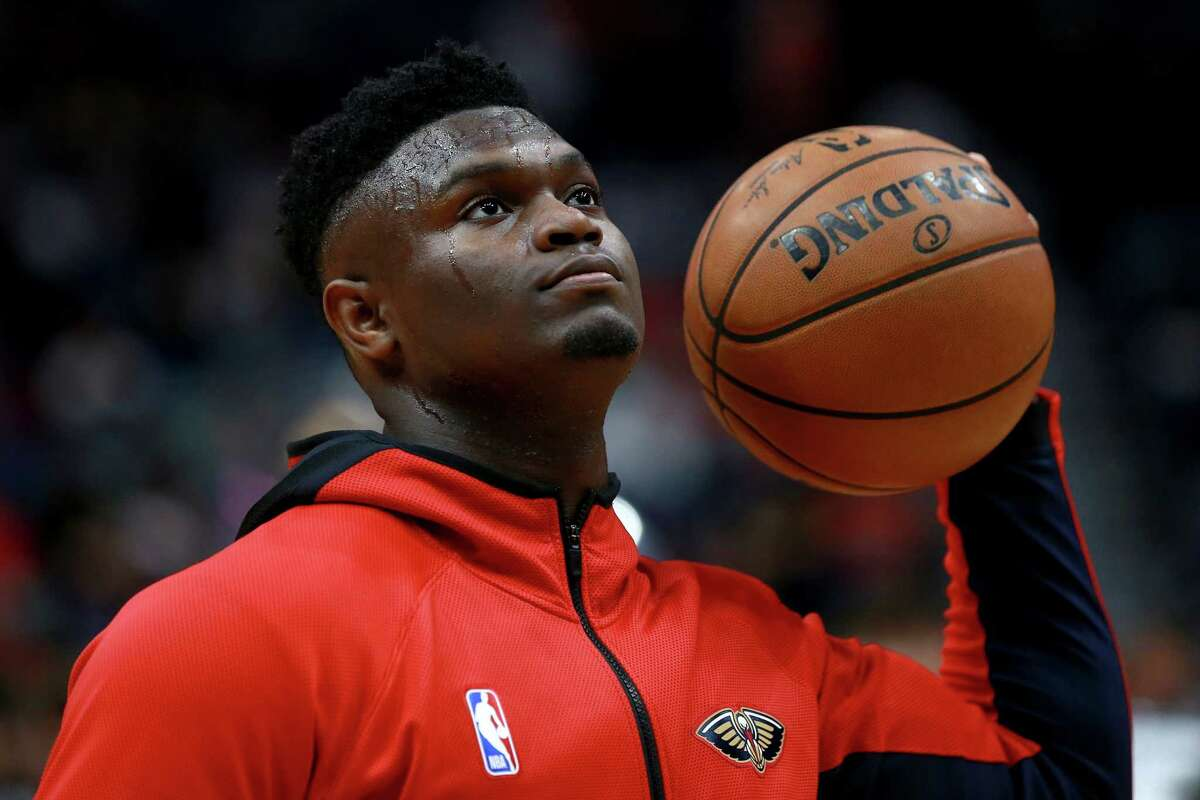 NEW ORLEANS, LOUISIANA - JANUARY 31: Zion Williamson #1 of the New Orleans Pelicans warms up prior to the start of a NBA game at against the Memphis Grizzlies Smoothie King Center on January 31, 2020 in New Orleans, Louisiana. NOTE TO USER: User expressly acknowledges and agrees that, by downloading and or using this photograph, User is consenting to the terms and conditions of the Getty Images License Agreement.