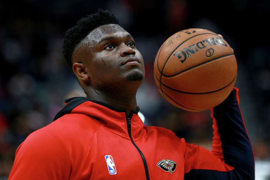NEW ORLEANS, LOUISIANA - JANUARY 31: Zion Williamson #1 of the New Orleans Pelicans warms up prior to the start of a NBA game at against the Memphis Grizzlies Smoothie King Center on January 31, 2020 in New Orleans, Louisiana. NOTE TO USER: User expressly acknowledges and agrees that, by downloading and or using this photograph, User is consenting to the terms and conditions of the Getty Images License Agreement. Photo: Sean Gardner, Getty Images / 2020 Getty Images
