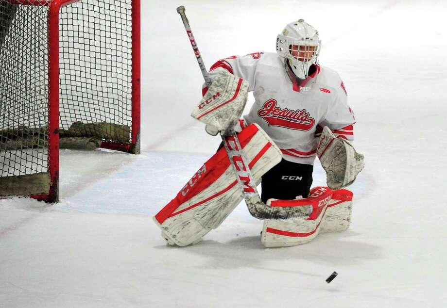 Fairfield Prep goalie Andrew Stietzel. Photo: Christian Abraham / Hearst Connecticut Media / Connecticut Post