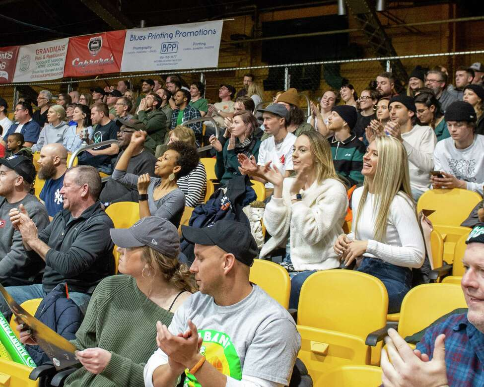 The crowd at the Washington Avenue Armory for the Albany Patroons The Basketball League season opener against the Tri-State Admirals at the Washington Avenue Armory in Albany NY on Saturday, Feb. 1, 2019 (Jim Franco/Special to the Times Union.)