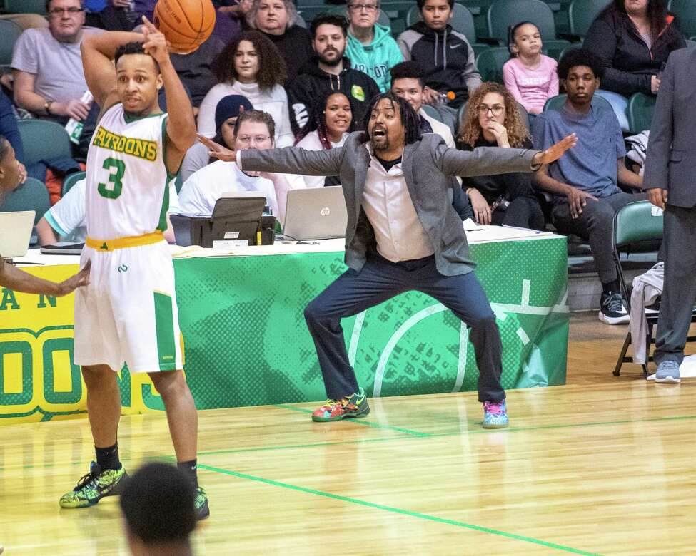 Tri-State Admirals head coach Valjie Troupe against the Albany Patroons during The Basketball League season opener at the Washington Avenue Armory in Albany NY on Saturday, Feb. 1, 2019 (Jim Franco/Special to the Times Union.)