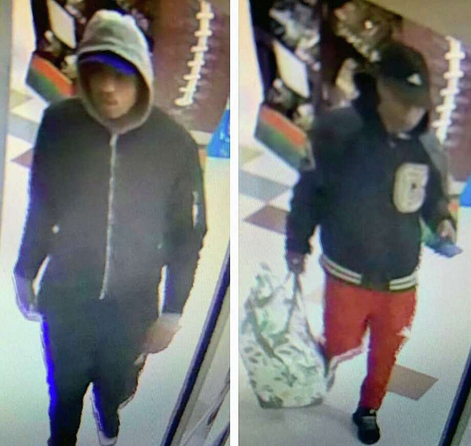 These are the two male suspects that police said took $700 worth of items from a Stop & Shop in North Haven, Conn., on Thursday, Jan. 30, 2020. Photo: Contributed Photo / North Haven Police Department