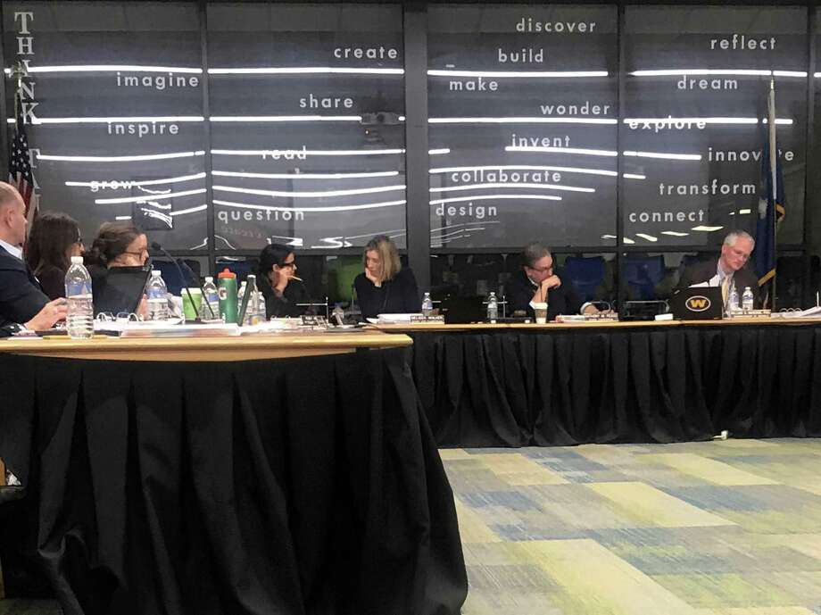 The Weston Board of Education at a meeting on Thursday. Taken Jan. 30, 2020 in Weston, Conn. Photo: DJ Simmons / Hearst Connecticut Media