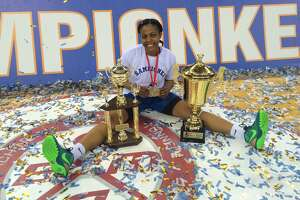 Ebone Henry won her final game of her basketball playing career while playing professionally in Montenegro. She was a member of the Buducnost squad that won the 2016 Adriatic League title and Montenegrin Cup. She was playing with a torn meniscus. (Courtesy photo)