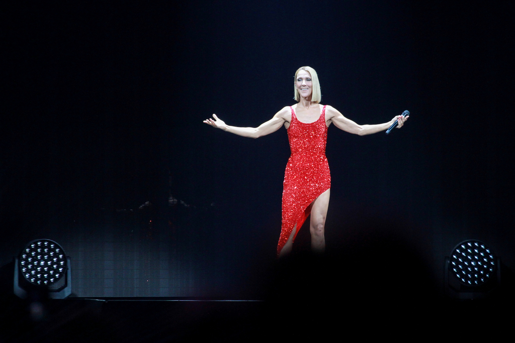 Celine Dion, glamorous and goofy, returns to Houston after more than a decade