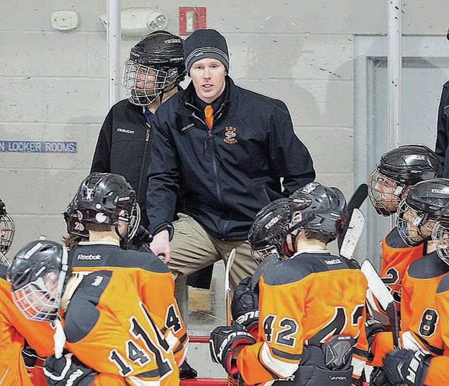 Edwardsville coach Jason Walker's team dropped a 7-4 decision to Chaminade on Friday in the opening round of the Mid-States Hockey Association three-game round-robin playoffs.