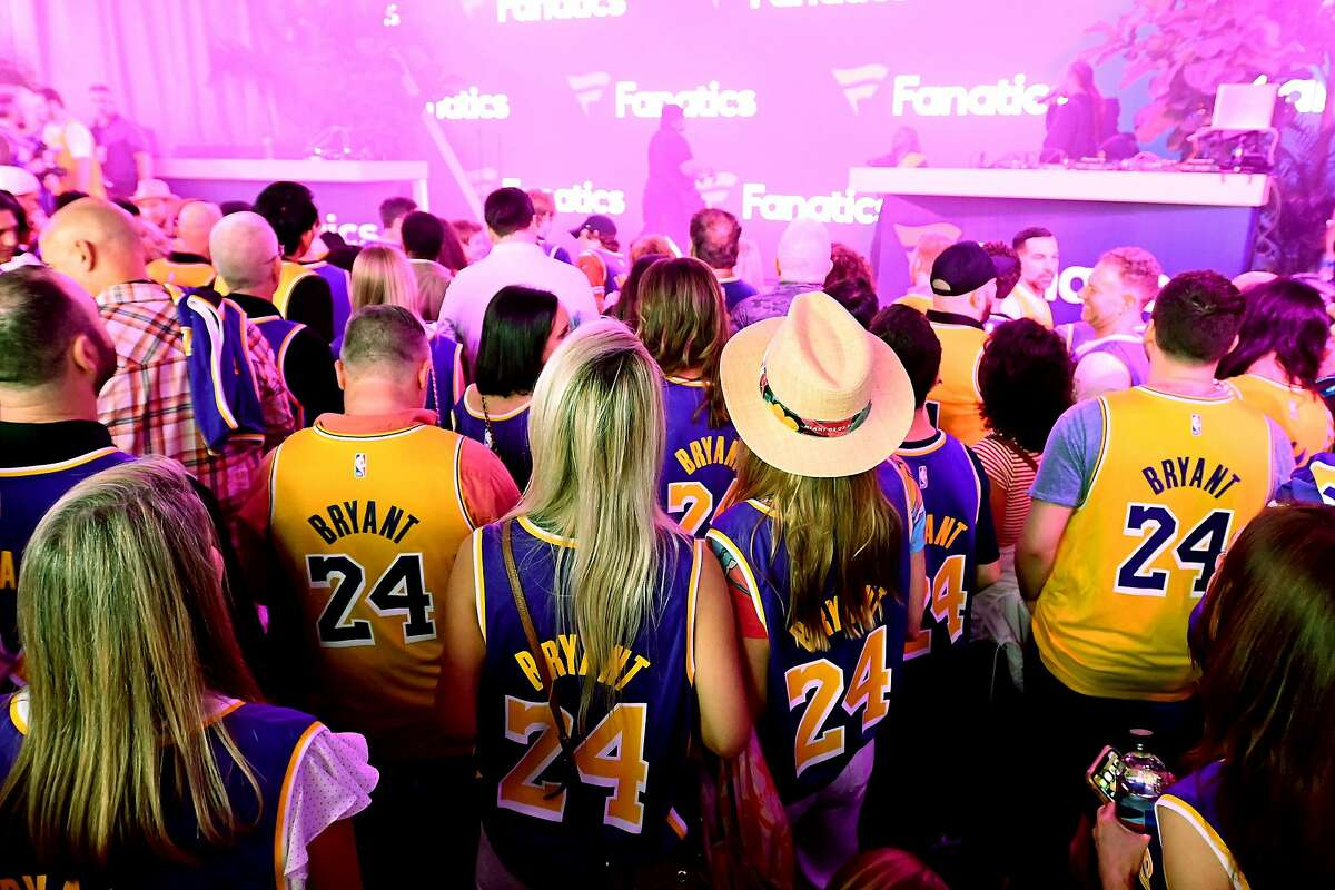 MIAMI BEACH, FLORIDA - FEBRUARY 01: Guests in Kobe Bryant jerseys attend Michael Rubin's Fanatics Super Bowl Party at Loews Miami Beach Hotel on February 01, 2020 in Miami Beach, Florida. (Photo by Mike Coppola/Getty Images for Fanatics)