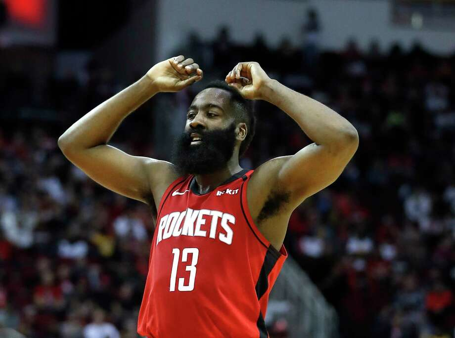 PHOTOS: 2019-2o Rockets game-by-game  Houston Rockets guard James Harden (13) reacts during the second half of an NBA basketball game at Toyota Center in Houston, Sunday, Feb. 2, 2020. >>>See how the Rockets have fared in each game this season ...  Photo: Karen Warren, Staff Photographer / © 2020 Houston Chronicle