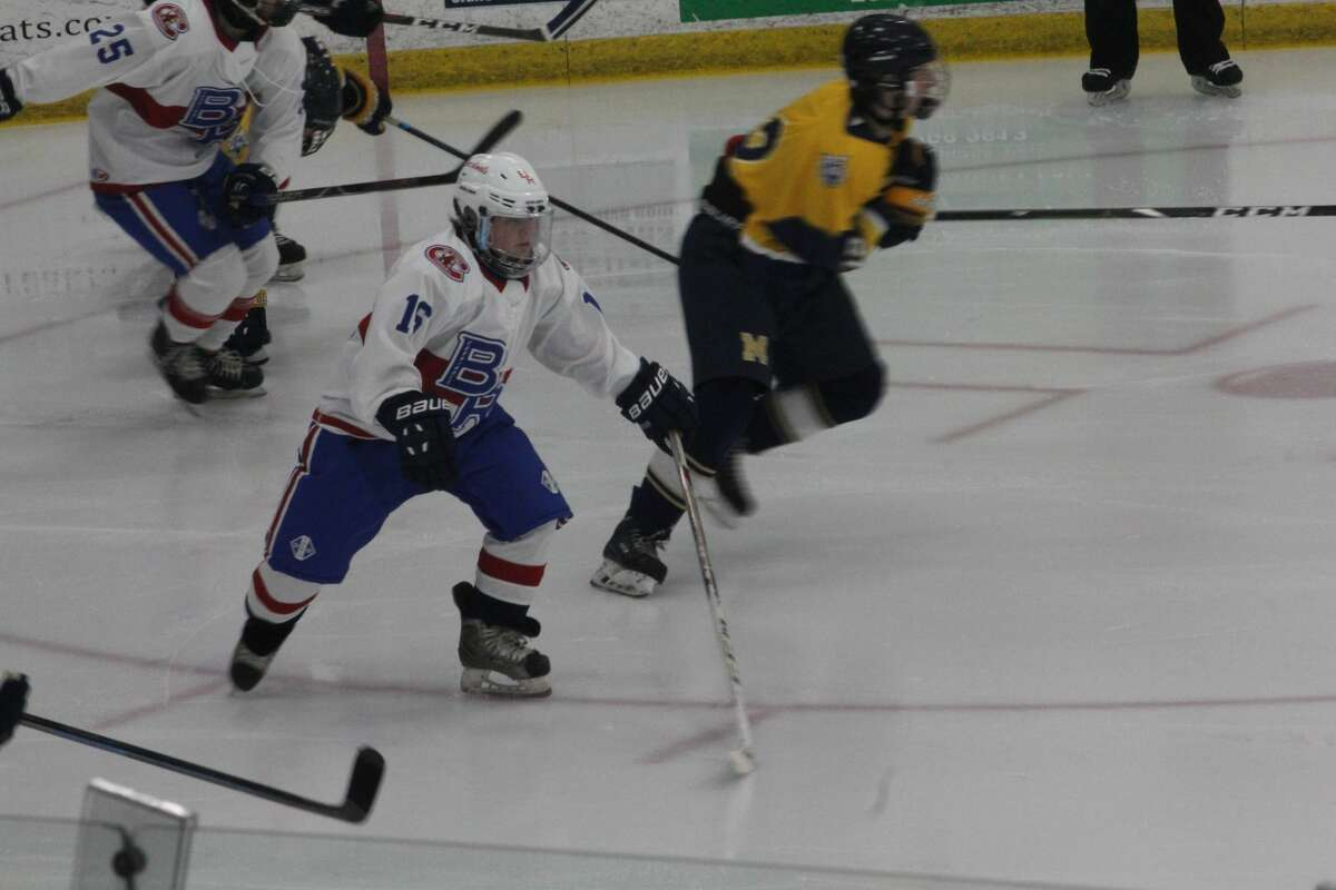 Big Rapids hockey manager Kirky Daumfulfilled his dream by playing for the varsity hockey team on Saturday