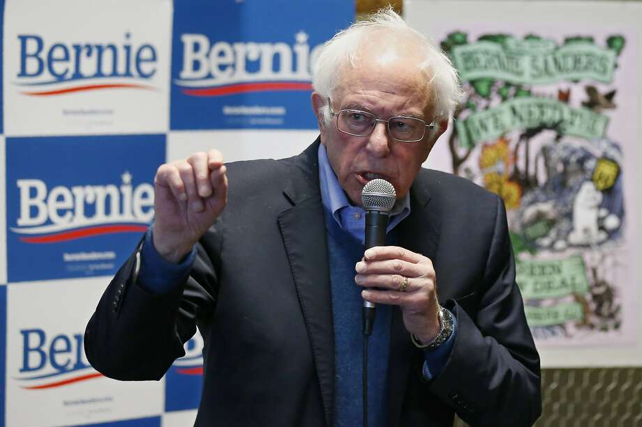 Democratic presidential candidate Sen. Bernie Sanders, I-Vt., speaks at a campaign event, Sunday, Feb. 2, 2020 in Iowa City, Iowa. (AP Photo/Sue Ogrocki) Photo: Sue Ogrocki, Associated Press