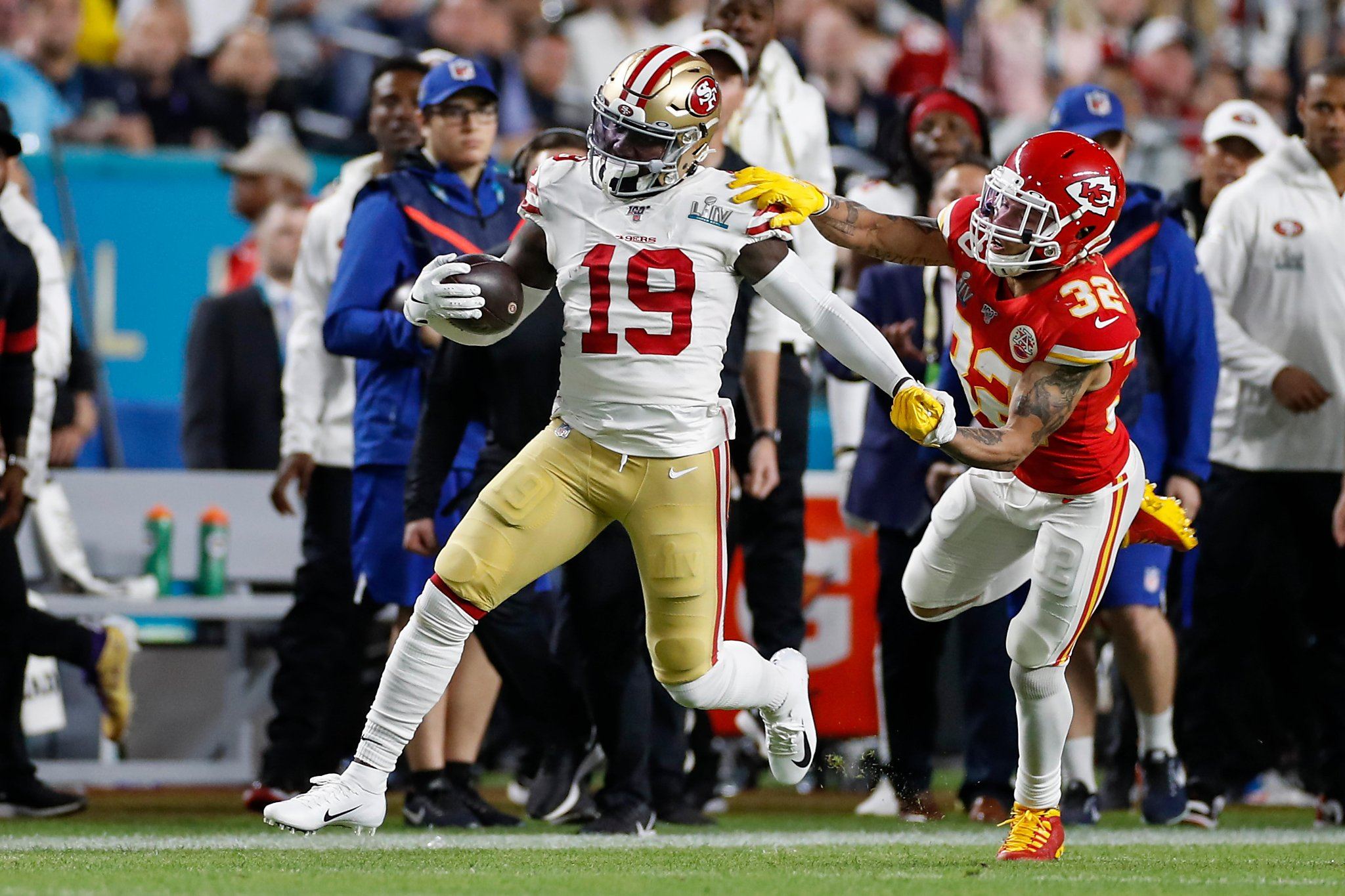 49ers` Deebo Samuel sets Super Bowl rushing record