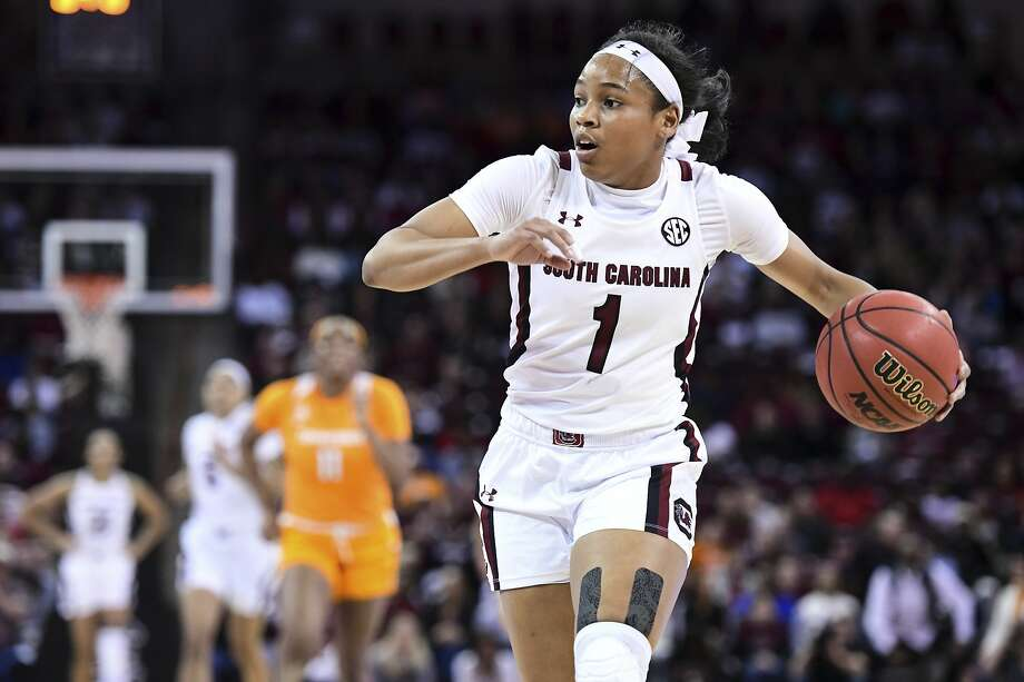 South Carolina's Zia Cooke hit four 3-pointers and scored 20 points in a 69-48 win over Tennessee. Photo: Sean Rayford / Associated Press