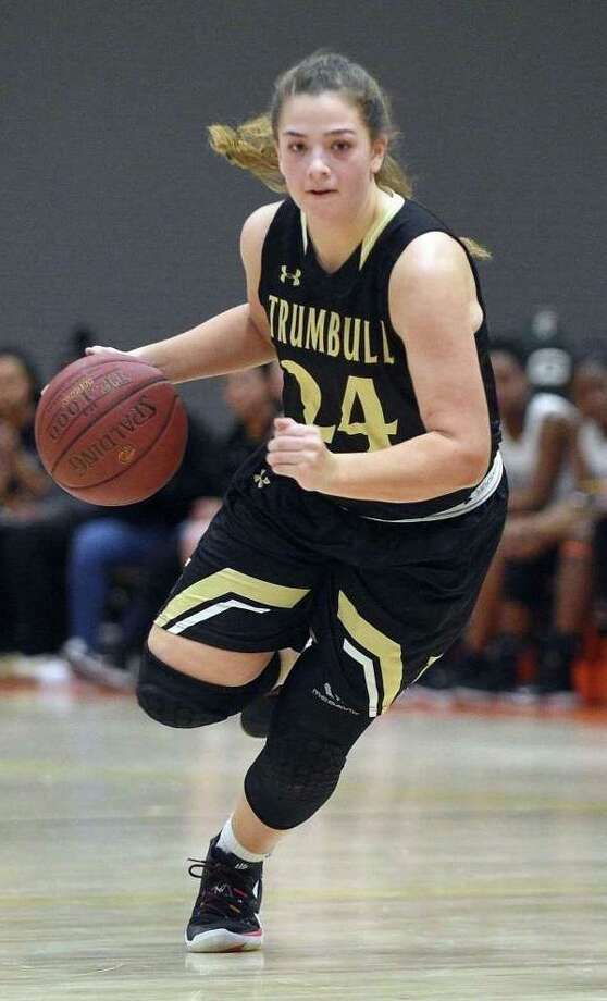 Cassi Barbato scored a game-high 27 points as Trumbull defeated Westhill 67-51. Photo: Matthew Brown / Hearst Connecticut Media / Trumbull Times