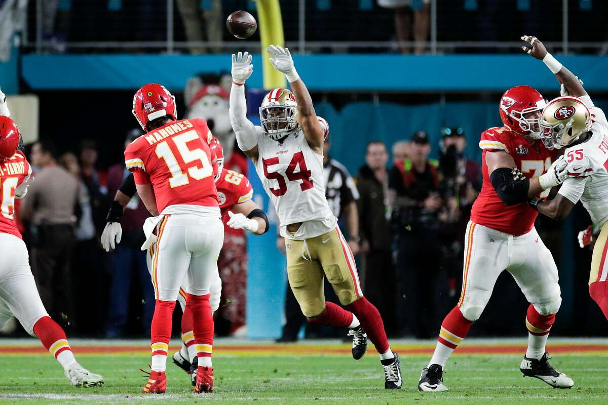 Kansas City Chiefs' quarterback Patrick Mahomes threw for 286 yards and rushed for another 29 in Super Bowl LIV.